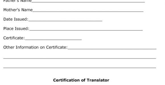 Free Birth Certificate Translation Template From English to Spanish Birth Certificate Translation Template Spanish to English