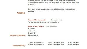 Free Blank Resume Templates for Microsoft Word 46 Blank Resume Templates Doc Pdf Free Premium