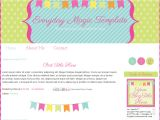 Free Blog Templates for Teachers Blog Templates for Teachers Bright Bunting Pink Cute