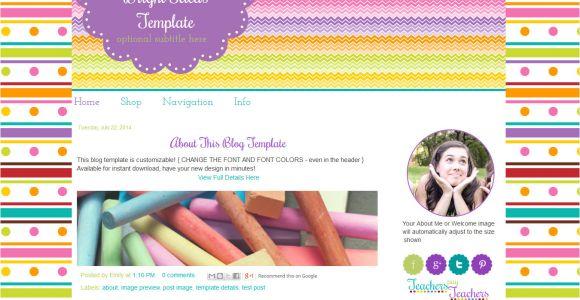 Free Blog Templates for Teachers Bright Fun Premade Teacher Blog Template Bright Ideas