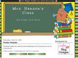 Free Blog Templates for Teachers Custom Blog Designs Freebie Teacher Blogger Template