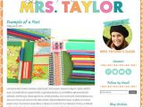 Free Blog Templates for Teachers Premade Blogger Template Teacher Blog with Colorful Text