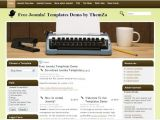 Free Blogger Templates for Writers Free Brown Green Writers Joomla theme Template