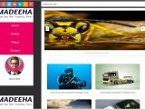 Free Blogger Templates with Slider Madeeha Slider Blogger Template Free Download 2018