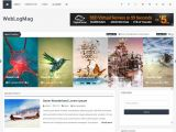 Free Blogger Templates with Slider Weblogmag Responsive Professional Blogger Template