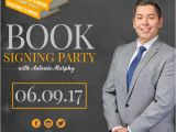 Free Book Signing Flyer Templates Book Signing Template Postermywall