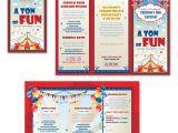 Free Brochure Templates for Kids Kids Carnival Day Tri Fold Brochure Template