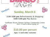 Free Bunco Flyer Template 2016 Flyer Feed His Lambs