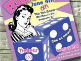 Free Bunco Flyer Template Bunco Game Night Fundraiser Retro 5×7 Invite 8 5×11