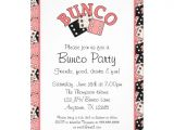 Free Bunco Flyer Template Pink and Black Bunco Party 5×7 Paper Invitation Card Zazzle