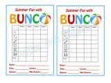 Free Bunco Scorecard Template Buy 2 Get 1 Free Summer Beach Bunco Score Card Sheet with