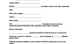 Free Business Contract Templates Sample Business Contract Template