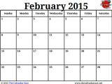 Free Calendar Template February 2015 February 2016 Calendar Presidents Day 2017 Printable