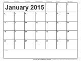 Free Calendar Template February 2015 January 2015 Calendar Template
