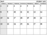 Free Calendar Template February 2015 Month Of February Calendar 2015 Www Pixshark Com