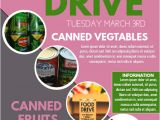 Free Can Food Drive Flyer Template Food Drive Template Postermywall