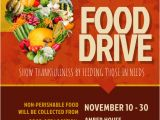 Free Can Food Drive Flyer Template Thanksgiving Food Drive Flyer Template Postermywall