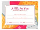 Free Certificate Templates for Word 2010 Birthday Gift Certificate Template Word 2010 Free