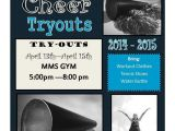 Free Cheerleading Flyer Templates Cheerleading Tryout Template Cheerleading Pinterest
