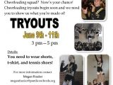 Free Cheerleading Flyer Templates Cheerleading Tryouts Publisher Flyer Free Download and