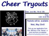 Free Cheerleading Tryout Flyer Template Cheerleading Tryouts Flyer Http Millcreekmscheerleading
