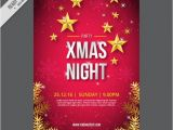 Free Christmas Brochure Templates Great Christmas Brochure with Snowflakes and Stars Vector