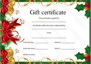 Free Christmas Gift Certificate Template 9 Best Images Of Gift Certificate Template Free Fill In