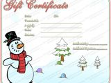 Free Christmas Gift Certificate Template Christmas Gift Certificate Template 16 Word Pdf