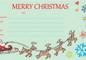 Free Christmas Gift Certificate Template Christmas Gift Certificates Templates Invitation Template