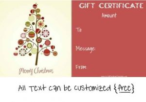 Free Christmas Gift Certificate Template Free Editable Christmas Gift Certificate Template 23 Designs