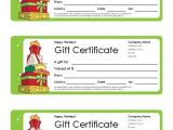 Free Christmas Gift Certificate Template Free Gift Certificate Template and Tracking Log