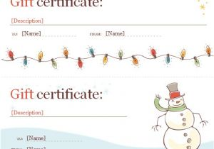 Free Christmas Gift Certificate Template Word Certificate Template 49 Free Download Samples