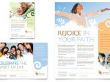 Free Church Brochure Templates for Microsoft Word Christian Church Flyer Ad Template Design