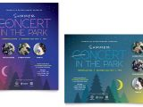 Free Concert Flyer Templates Word Summer Concert Poster Template Word Publisher