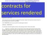 Free Contract Template for Services Rendered Free Contracts for Services Rendered Doc and Pdf format