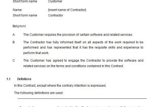Free Contract Templates for Small Business 9 It Support Contract Templates Free Word Pdf