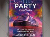 Free Cruise Ship Flyer Template Cruise Vacation Premium Flyer Psd Template Psdmarket