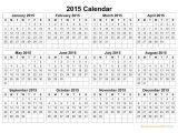 Free Downloadable 2015 Calendar Template Printable Calendar 2015 Landscape Printable Calendar