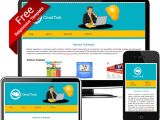 Free Email HTML Templates Dreamweaver Free Eye Catching Yellow and Blue Dreamweaver Responsive