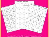 Free English Paper Piecing Hexagon Templates 1998 Best Hexagons English Paper Piecing Images On