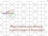 Free English Paper Piecing Hexagon Templates Wednesday Tute 15 English Paper Piecing 01 All About