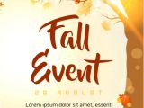 Free Fall event Flyer Templates Fall event Template Postermywall