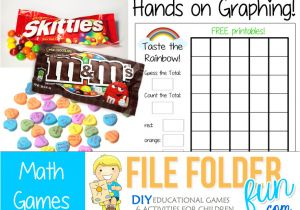 Free File Folder Game Templates Candy Graphing Printable