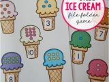 Free File Folder Game Templates Free File Folder Game for Preschoolers Ice Cream Count