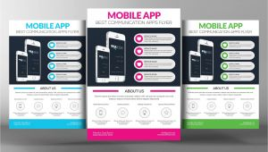 Free Flyer Design Templates App Mobile App Flyer Template Flyer Templates Creative Market