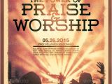 Free Flyer Templates for Church events Power Of Praise and Worship Church Flyer Template On Behance