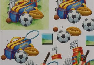 Free Football Backing Paper Card Making Cc Mixed Sports Decoupage Sd353 Card Making Craft Supplies