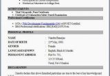 Free Fresher Resume format Fresher Resume format
