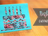 Free Happy Birthday Card Svg Cutting Files How to Make A Birthday Cake Cutout Card Patterns