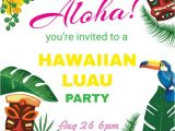 Free Hawaiian Luau Flyer Template Hawaiian Party Invitations Luau Flyer Template Design